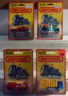 DTE 4 1980 CARD LESNEY MATCHBOX SUPERFAST 13 SNORKEL 19 CEMENT TRUCK 22 FIRE 36