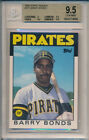 Barry Bonds Pirates Giants 1986 Topps Traded 11T Rookie Card rC BGS 9.5 Gem Mint