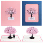 3D Pop Up Greeting Card Cherry Blossom Tree Handmade Wedding Invitations Craft