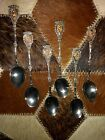 SET OF 6 ANTIQUE Demitasse Silver SPOONS Small MARKED ITALY