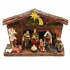 11 Piece Christmas Nativity Scene Set with Stable Figurine 975 Inch N0287 New