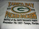 @@NFL VINTAGE RARE 1997 GREEN BAY PACKERS TAMPA BAY PACKERS BACKERS TOWEL GAME@@