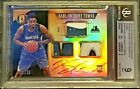 KARL ANTHONY TOWNS 2015-16 GOLD STANDARD ROOKIE AUTO 3X LOGO PATCH 25 BGS 9 10