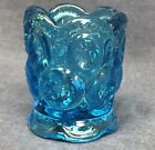 Vintage LE Smith Glass Blue Moon and Stars Toothpick Holder