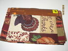 Give Thanks Fall Autumn Thanksgiving Turkey Tapestry Table Runner 13 X 68 NWT