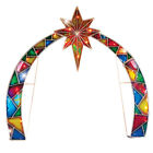 Lighted Outdoor Arch w Star of Bethlehem Christmas Nativity Scene Decoration