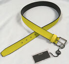 New Vintage 90s Versace Jeans Couture Belt e 85 US 34 Yellow Pebbled Rubber