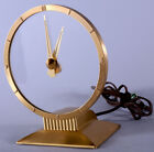 Art Deco Machine Age Jefferson Golden Hour Mystery Clock Fine Working Condition