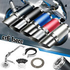 Performance Exhaust System Short Carbon Fiber GY6 50cc 150cc Chinese Scooter US
