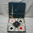 OPC Federal Glass Co Trump Ash Tray Playing Card Set of 4 Original Box