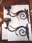 ANTIQUE / VINTAGE IRON WALL SCONCE / CANDLE HOLDER / LAMP GOTHIC??