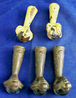 Victorian Federal CAST IRON GLASS BALL EAGLE CLAW FOOT CHAIR TABLE LEG SALVAGE