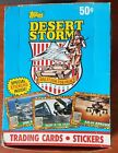 1991 TOPPS DESERT STORM TRADING CARDS & STICKERS BOX OF 36 FACTORY SEALED PACKS