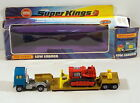 DTE MATCHBOX SUPERKINGS SK 23 BLUE GOLD LOW LOADER WITH RED CAT BULLDOZER NIOB