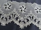 Vtg Antique WIDE French Tambour Net Lace Open Work Scalloped Doll Dress Trim