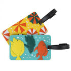 Travelon BEACH FUN Luggage Tags SET of 2 NEW Bright Colors TRAVEL
