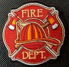 Fire Department With Axes Embroidered Biker Patch