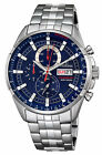 New Festina Chronograph Date Display Blue Dial Stainless Watch F6844/3