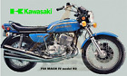 Kawasaki 750 MACH IV Model H2 blue LARGE 5