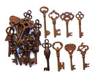 Antique Iron Skeleton Fancy Top Keys Lot of 25 Steampunk