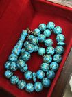turquoise rosary, real turquoise Stone, Tasbeh, Mesbaha, Fayroz, Persian Old