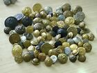 DEALERS JOB LOT of 93 MIXED UNIFORM BUTTONS ALL TYPES AND SIZES L@@K