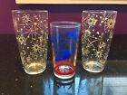 Lot of 3 Mid Century Space Age Glasses/Tumblers Planets Comets Hazel Atlas