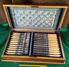 Silver fish 12 knife fork set hallmarked in WOW case 120+Yr OLD
