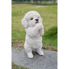 MALTESE STANDING DOG FIGURINE WHITE DOGS STATUE RESIN PET CANINE NEW 86  H