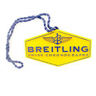 BREITLING AUTHENTIC YELLOW WATCH HANG TAG IN GREAT CONDITION