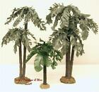 FONTANINI ITALY EARLY 5 75 3PC MULTI TRUNK PALM TREES VILLAGE NATIVITY ACCESS