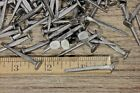 """ BRAD NAILS 50 lot antique square wrought iron look round flat heads 1.5"