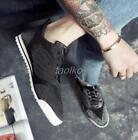 Mens Lace Up Fashion Sneakers Nightclub Casual Flats Board Shoes Punk Silver 42