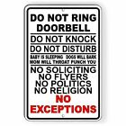 Do Not Ring Doorbell Do Not Disturb Do Not Knock No Soliciting Sign METAL SI129