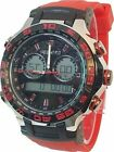 Shhors Sports Water Resistant Shock Digital Watch Watch Red Silicone Band