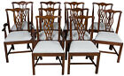 New Antique Style Simple Chippendale Solid Mahogany Dining Room Chairs Set 10 FS