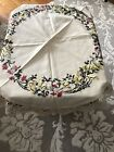 Crafts Hand Embroidered Linen Tablecloth Macrame Trim