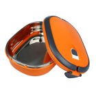 1Layer Stainless Steel Thermal Insulated Lunch Box Bento Food Container Round R0