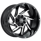 4 20 Inch Vision 422 Prowler 20x12 8x65 51mm Black Machined Wheels Rims