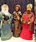 Byers Choice Nativity Set of 3 Wise Men Myrrh Frankincense Gold Mint Store Stock