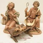 FONTANINI DEPOSE ITALY 12 HOLY FAMILY NATIVITY VILLAGE 4PC SET SPIDER MARK GC