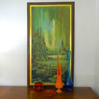 VTG 1960s MID Century Modern Abstract Green Art Print Turner Wall Accessory