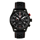 Junkers Hugo Chronograph Watch Alarm Mens Leather Strap 6680-4