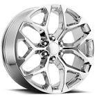 4 NEW 20 Inch Replica V1182 GM Snowflake 20X9 6x1397 +24mm Chrome Wheels Rims