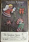 The Gingham Goose Christmas Boutique Wall  Door Decor SEALED PACKAGE
