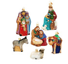 Christmas Holiday Set Of 6 Old World Christmas Nativity Ornaments Great Gift