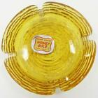 Anchor Hocking Honey Gold Soreno 4.25 inch Ashtray w/ Original Label Mid Century