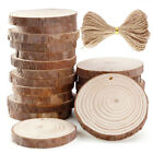 20pcs Round Log Slices Discs Wooden Wood Crafts Centerpieces Wedding Decor F3