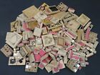 CTMH DOTS JRL HUGE MIXED LOT 260 RUBBER STAMPS FLOWERS KIDS ANIMALS HOLIDAYS