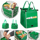 Foldable Shopping Tote Bag Grocery Grab Bag Fabric Carrier Clip To Cart Trolley